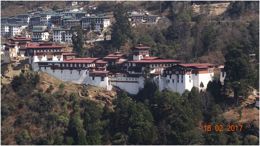 The strategic Trongsa Dzong