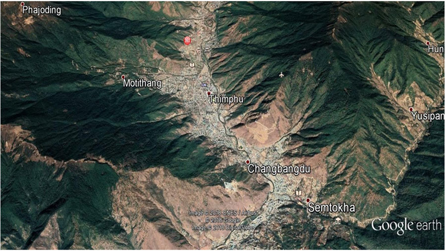 Thimphu-Map