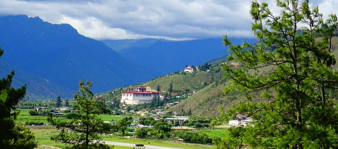 Rimpung and Ta Dzong View